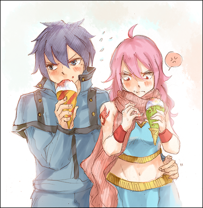 Fairy Tail Next Generation. Luna Dragneel and Storm Fullbuster. Storna (characters by kkumri on tumblr)