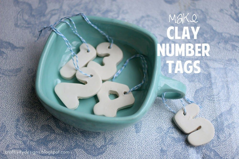 How to Make Clay Number Tags
