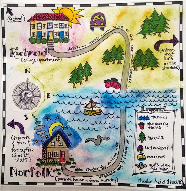 Personal Mapping Drawing For Kids Maps For Kids Kids Art Projects