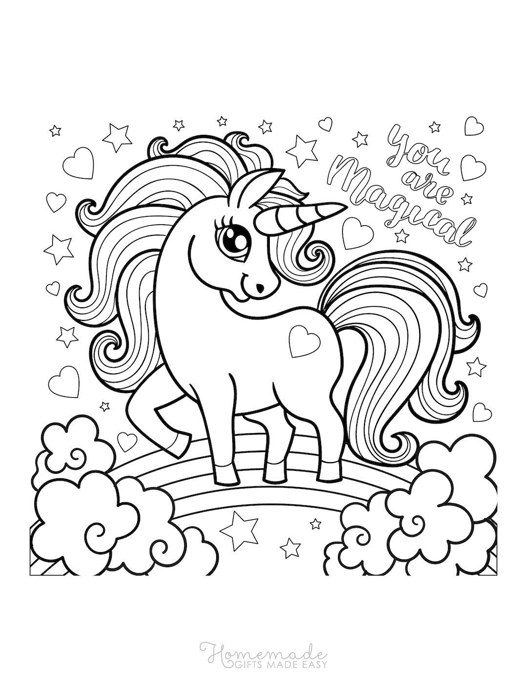 75 Magical Unicorn Coloring Pages For Kids Adults Free Printables Unicorn Coloring Pages Cute Coloring Pages Love Coloring Pages