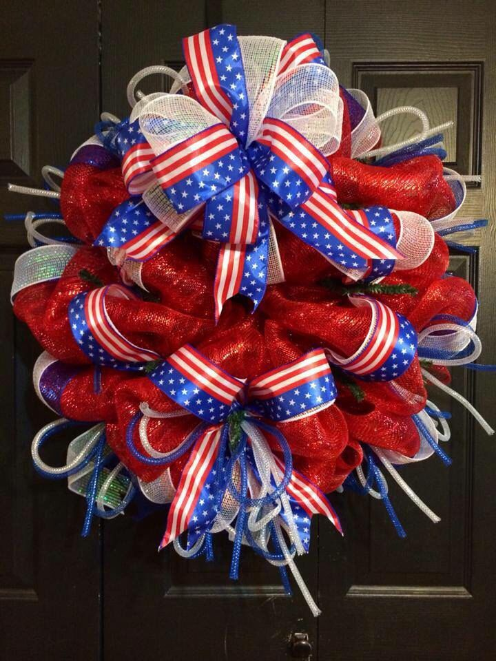 A personal favorite from my Etsy shop https://www.etsy.com/listing/100975961/4th-of-july-wreath