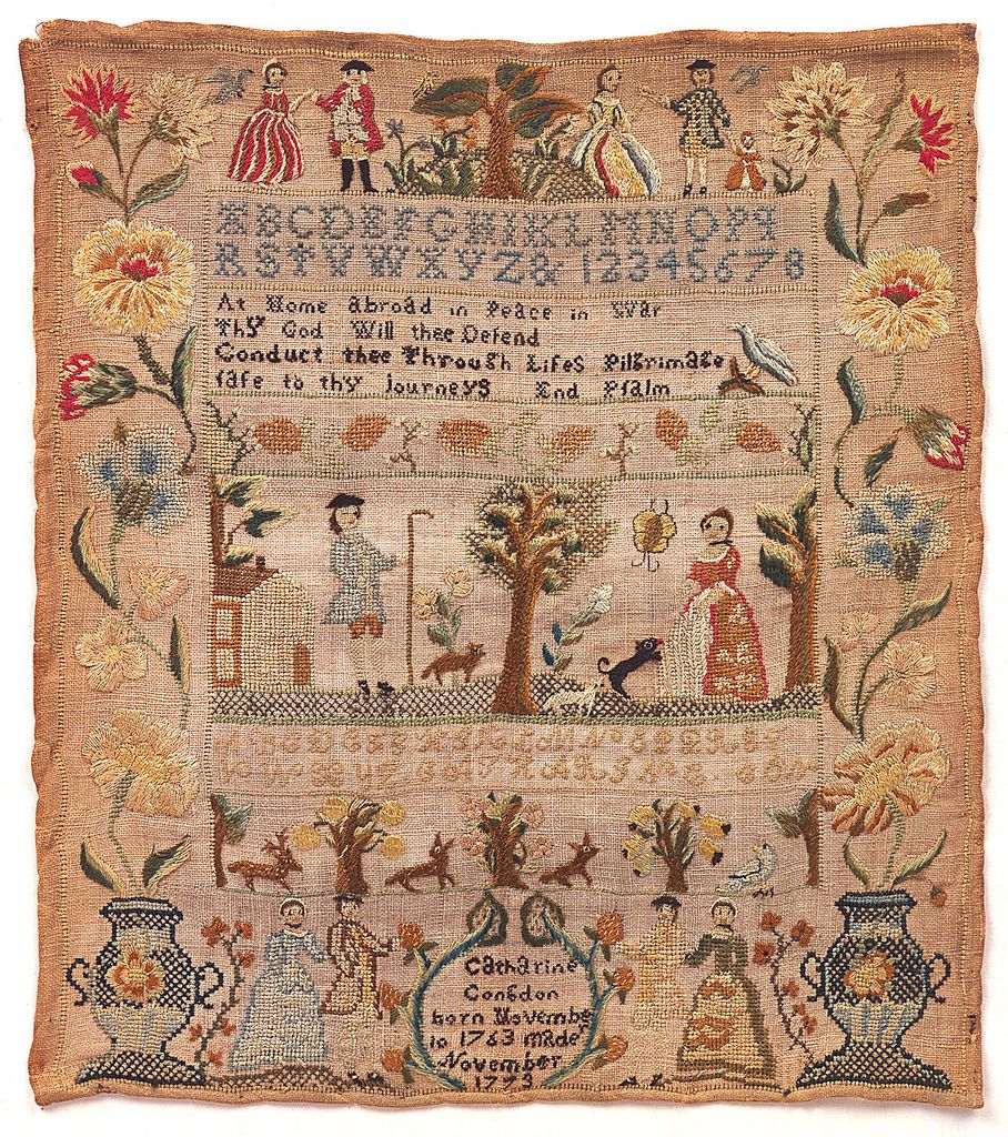 Sampler (USA), 1773 | Objects | Collection of Cooper Hewitt, Smithsonian Design Museum