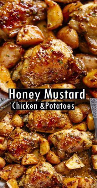Photo of Honey Mustard Chicken & Potatoes (one pan)