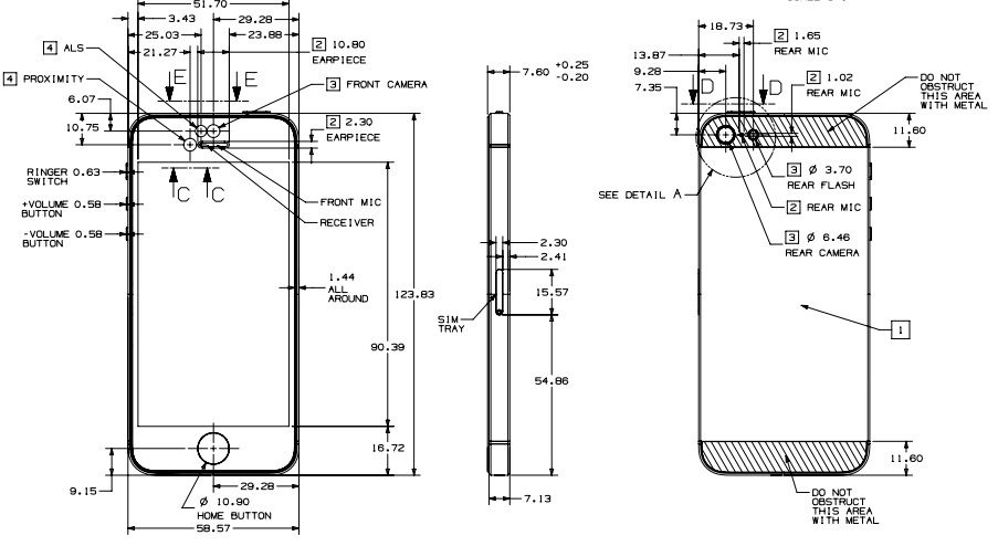 iPhone 5S Blueprints iPhone Sketches iPhone 5s, Iphone, Iphone