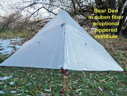Bear Den Tent - Bear Paw Wilderness Designs - ~$435 with all add-ons & Bear Den Tent - Bear Paw Wilderness Designs - ~$435 with all add ...