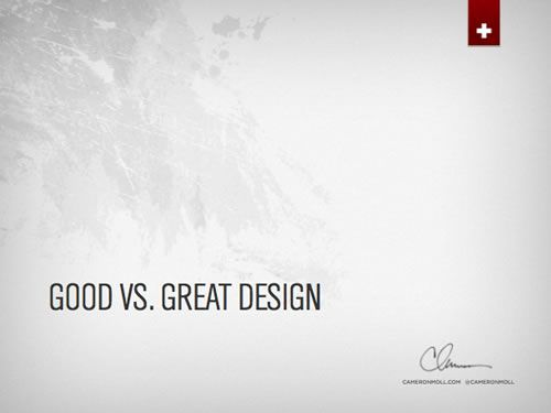 Killer Slide Decks  Good Vs Great Design  Slide Layout
