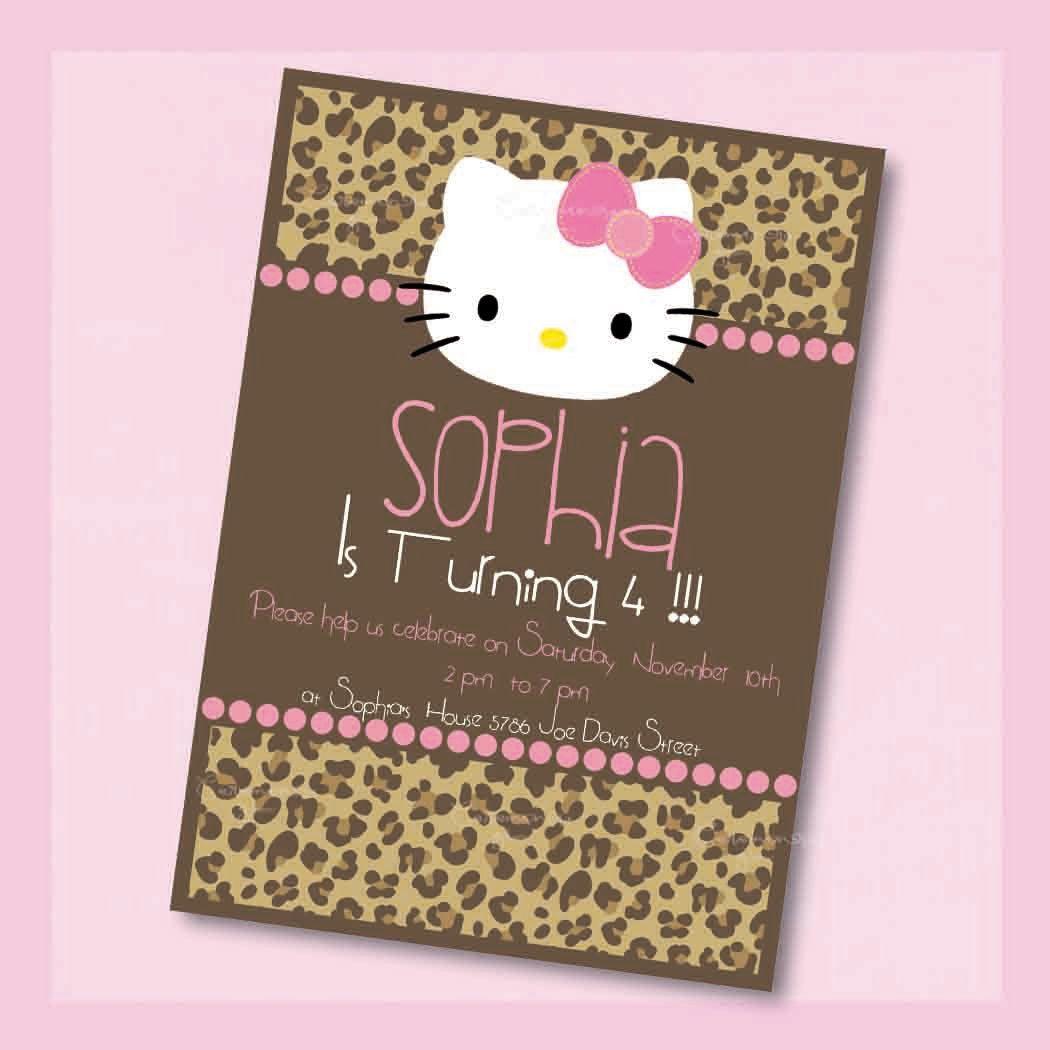 HELLO KITTY Leopard Printable Invitation By CeremoniaGlam
