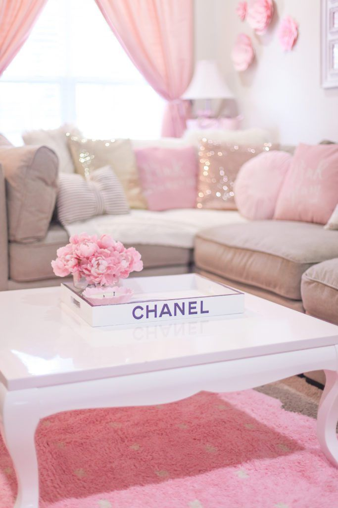 The Most Girly Pink Decor For A Feminine Home J Adore Lexie Couture Girly Living Room Girly Room Living Room Decor Rustic Girly living room decor ideas