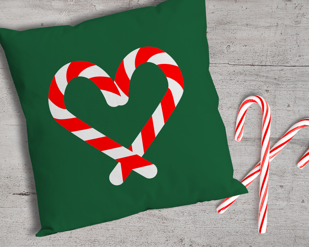 Candy Cane Heart SVG File Template Candy cane, Templates