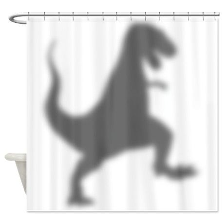 T Rex Silhouette Shower Curtain By Twisted Humor T Shirts