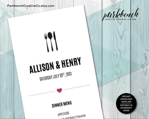 Wedding Menu Template Printable Wedding Dinner Menu, Editable Wedding Menu Card, Printable Template, Printable Menu | 2500 #PrintableMenu #WeddingMenu #MenuTemplate #WeddingDinnerMenu #editable #printable #MenuPrintable #WeddingMenuCard #PrintableTemplate #DinnerMenu #weddingmenutemplate