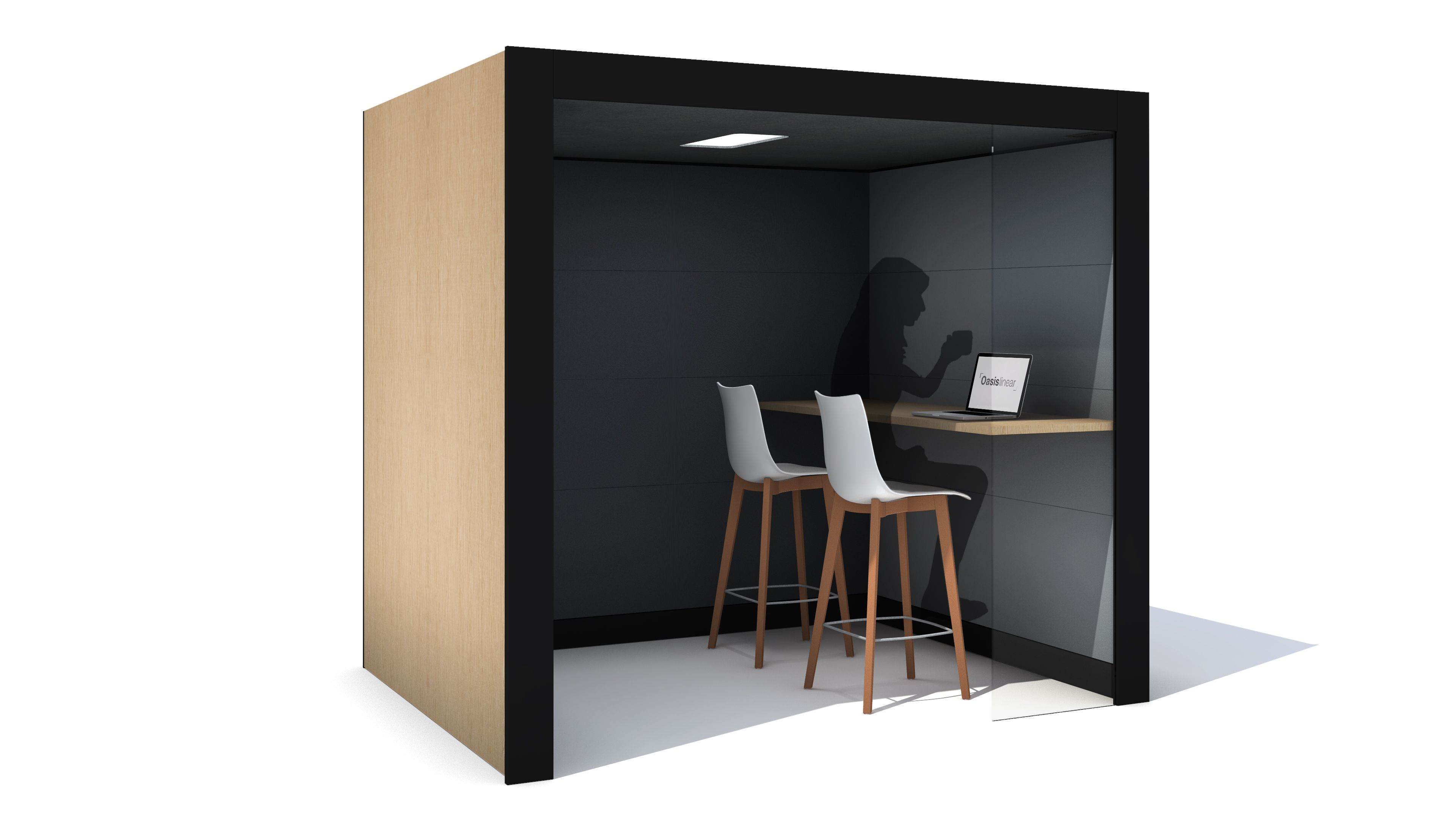 pods office. Oasis Linear Team Booth | Acoustic Pods Office Furniture
