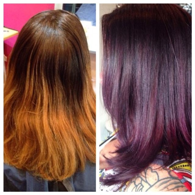 Transformation Old Box Color To Purple Sombre Career Beautiful