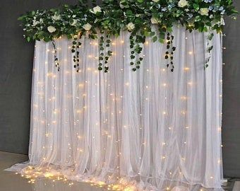 10 feet Wide Polyester Backdrop Drapes Curtains Pa