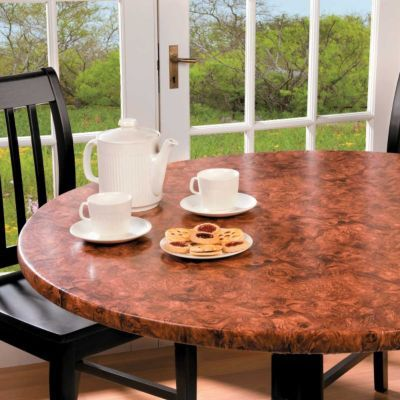 Burlwoodlook Table Cover  Table Covers Coffee Theme And Vinyl New Custom Dining Room Table Pads Decorating Design