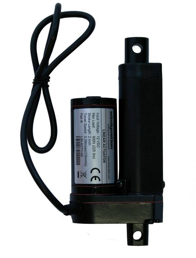 """NEW Heavy Duty Linear Actuator 2/"""" inch Stroke 225 Pound Max Lift 12 Volt DC 12v"""