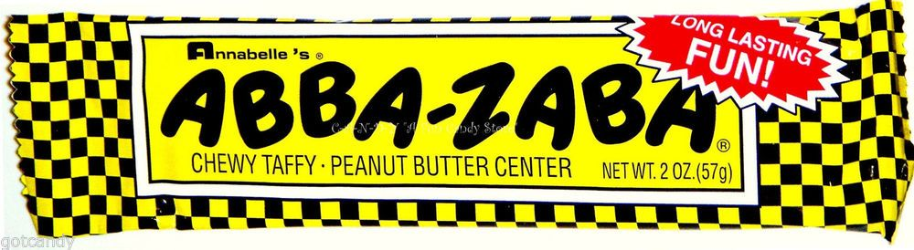 1   ABBA-ZABA CANDY BAR - Peanut Butter Filled Taffy - Nostalgic Sweet #AbbaZaba #taffy