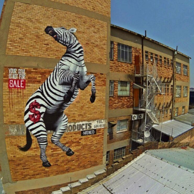 """""""Your soul is not for sale """" piece by @mrdheo in Johannesburg http://globalstreetart.com/mrdheo #globalstreetart"""