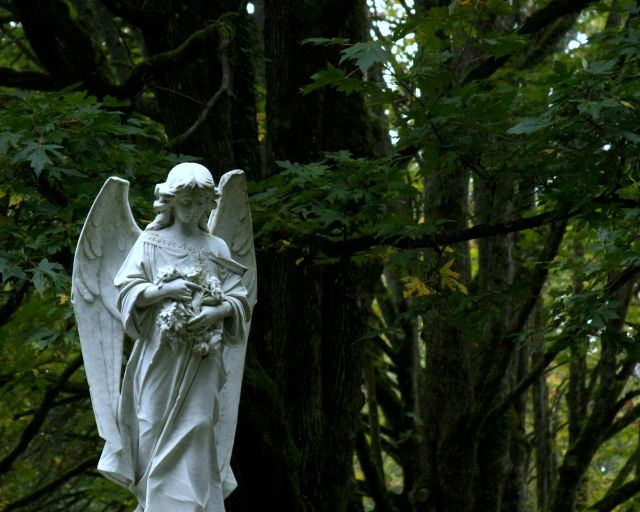 Angel eyes, Bayview Cemetery Bellingham, Wa. I used to live down the street from here and had to walk through the cemetery at night, avoiding this statue, it creeped me out. This was taken by my friend Jolene @ http://jolenehansonphotos.wordpress.com/