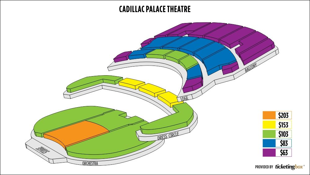 Cadillac palace seating chart local stuff to try cadillac
