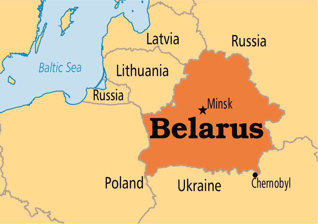 Image result for belarus map