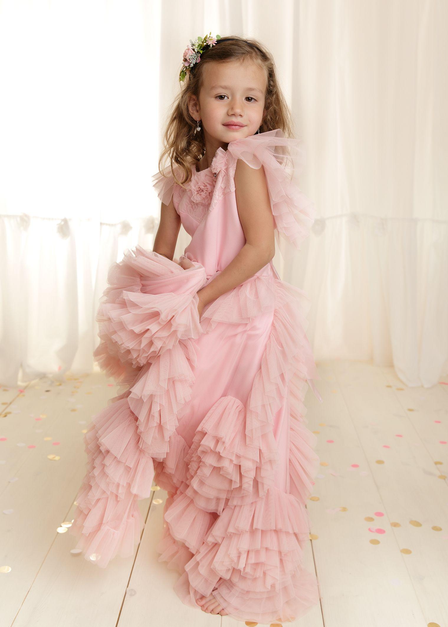 Mädchen im Kleid, Fotoshooting, Fotoshoot zum 6. Geburtstag, Ideen ...