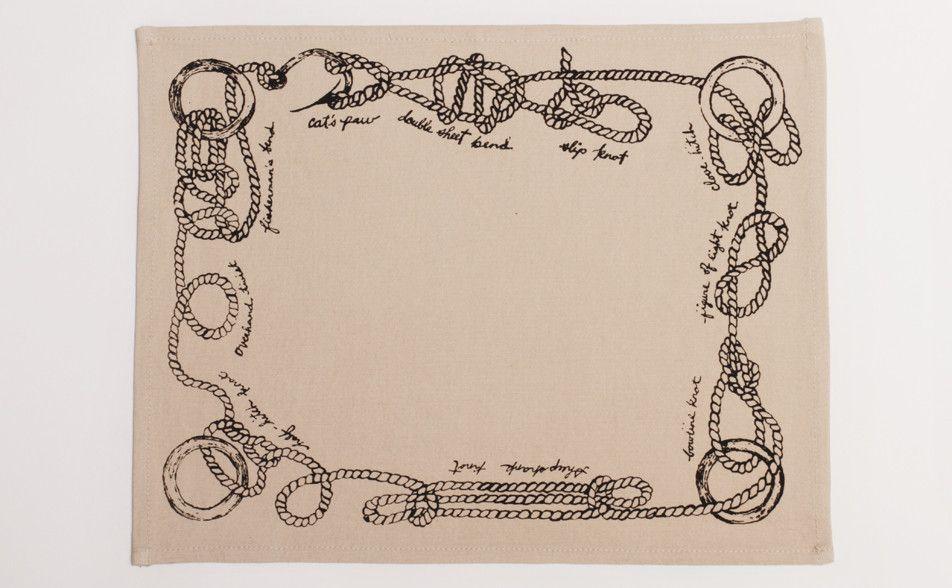 Sailor Knot's Placemat, Set of 4