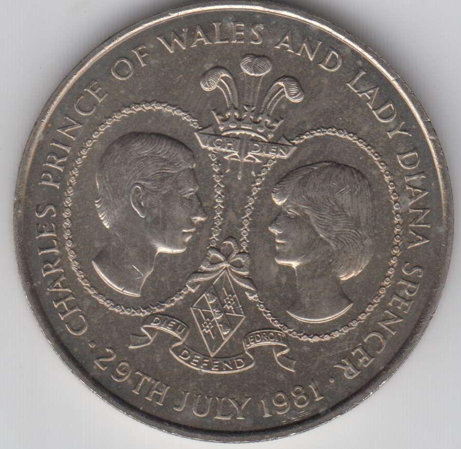 Tristan Da Cunha 25 Pence Charles Diana Royal Wedding 1981