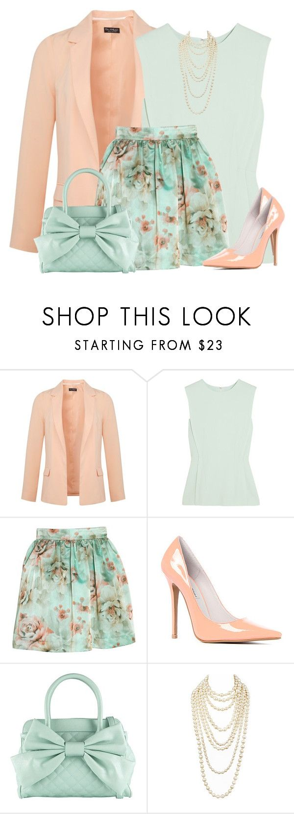 """""""Mint Floral Skirt"""" by daiscat ❤ liked on Polyvore featuring Miss Selfridge, Alexander Wang, Tara Jarmon, Jeffrey Campbell, Call it SPRING and Chanel"""