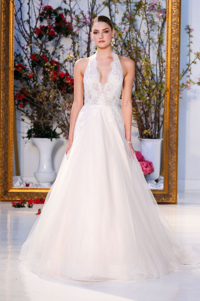 Lace halter wedding dress  The Anne Barge Collection of Bridal Gowns  SPRING  COLLECTION