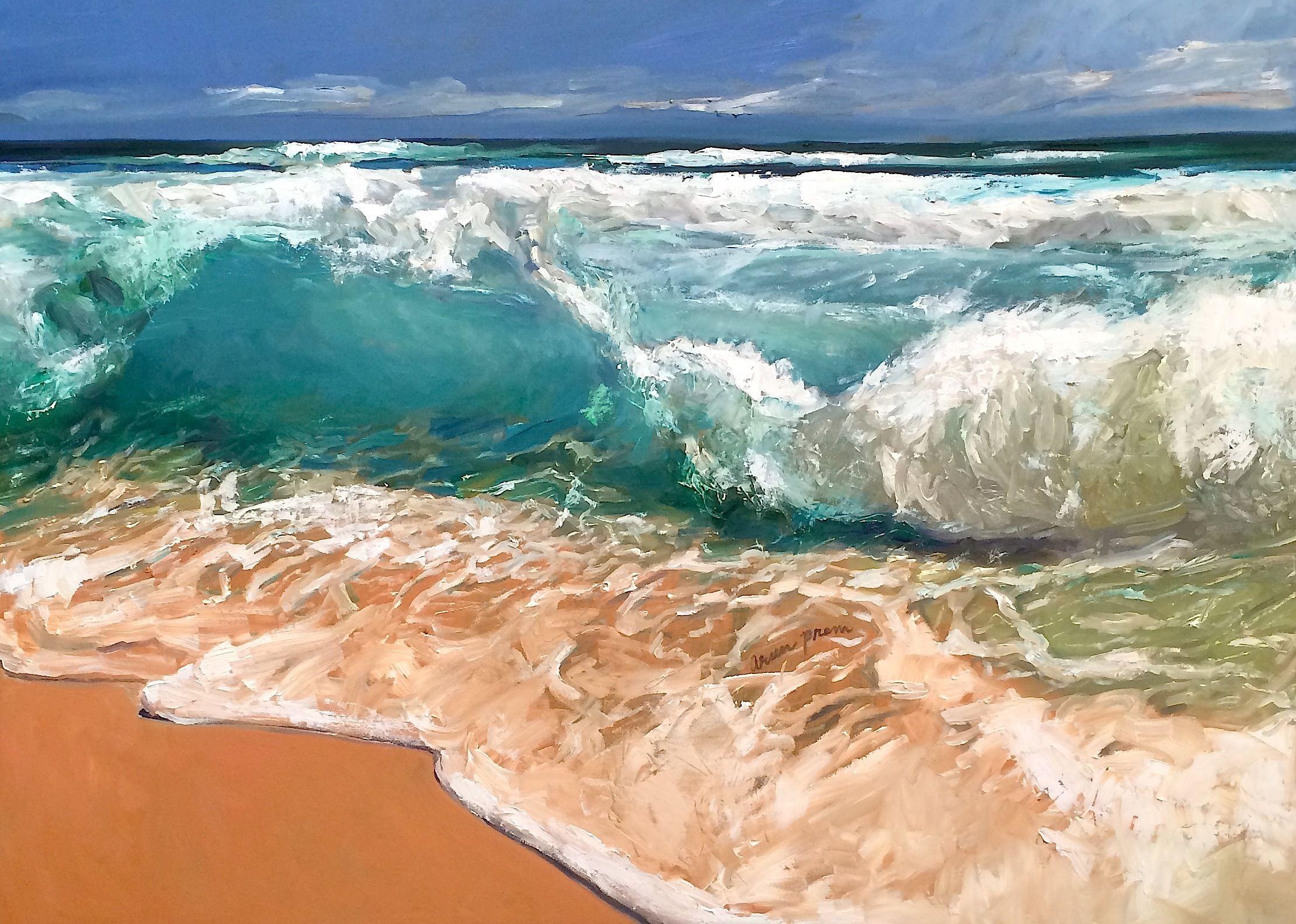 "For Sale: Landfall #2 by Arun Prem | $1,500 | 48""w 36""h | Original Art | https://www.vangoart.co/arunprem/landfall-2 @VangoArt"