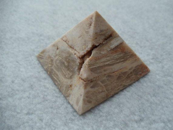 Petrified Wood Crystal Pyramid XXL by LaroquianStarlight on Etsy, $41.00