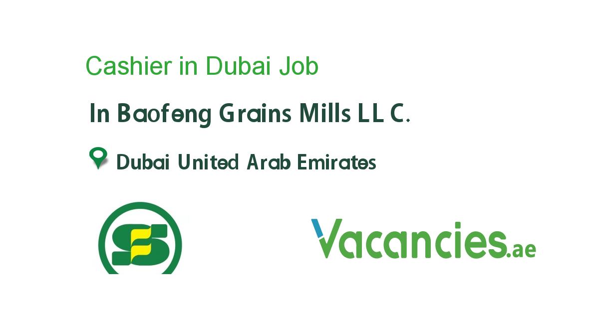 Cashier In Dubai Finance Jobs Job Dubai