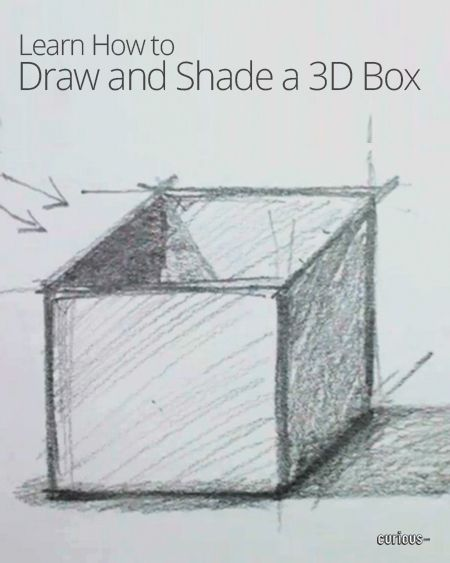 How To Draw And Shade A 3d Box Great Tutorial Drawings