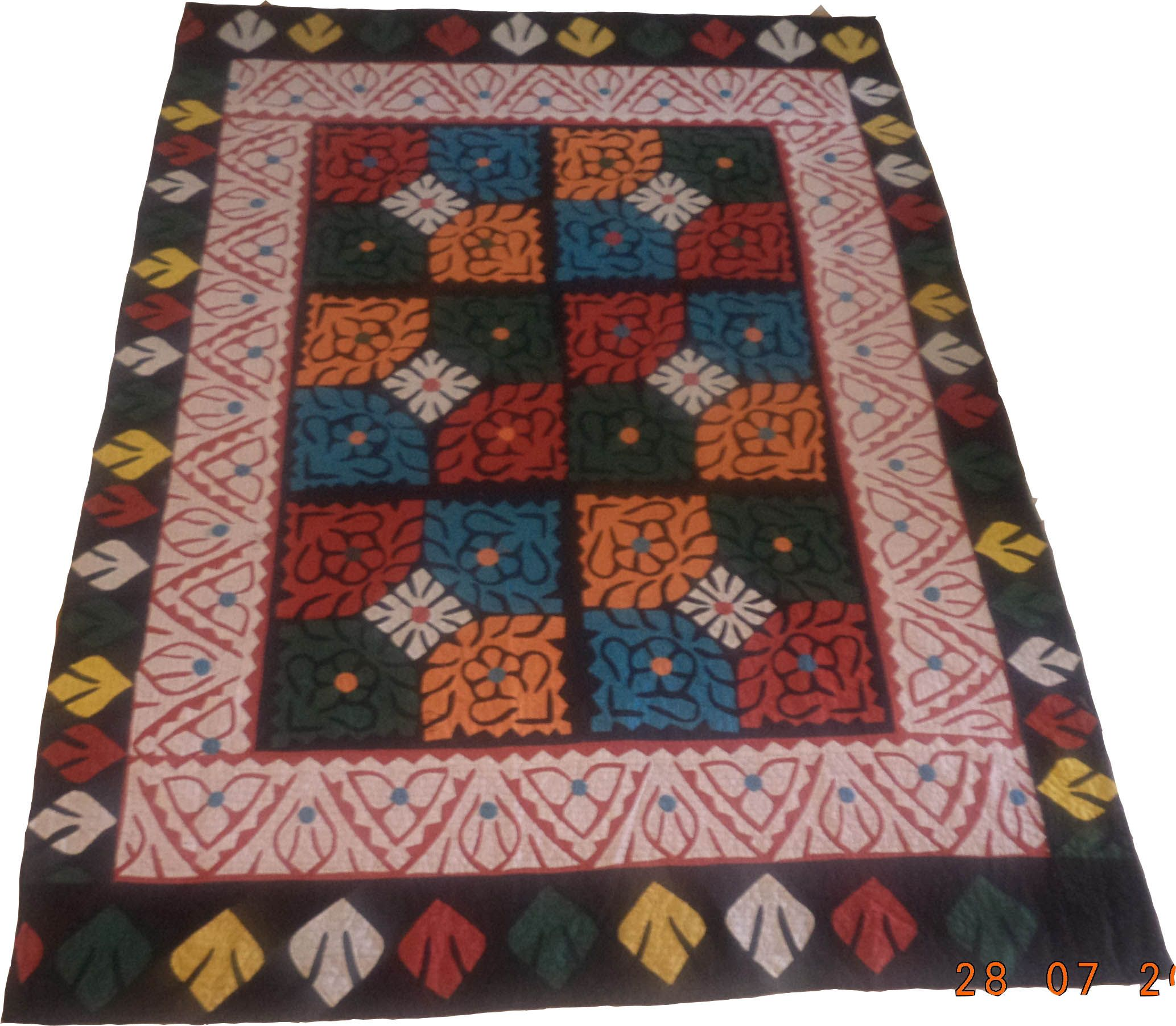 Sindhi Ralli Quilt Product Information: Product Code: SV-950