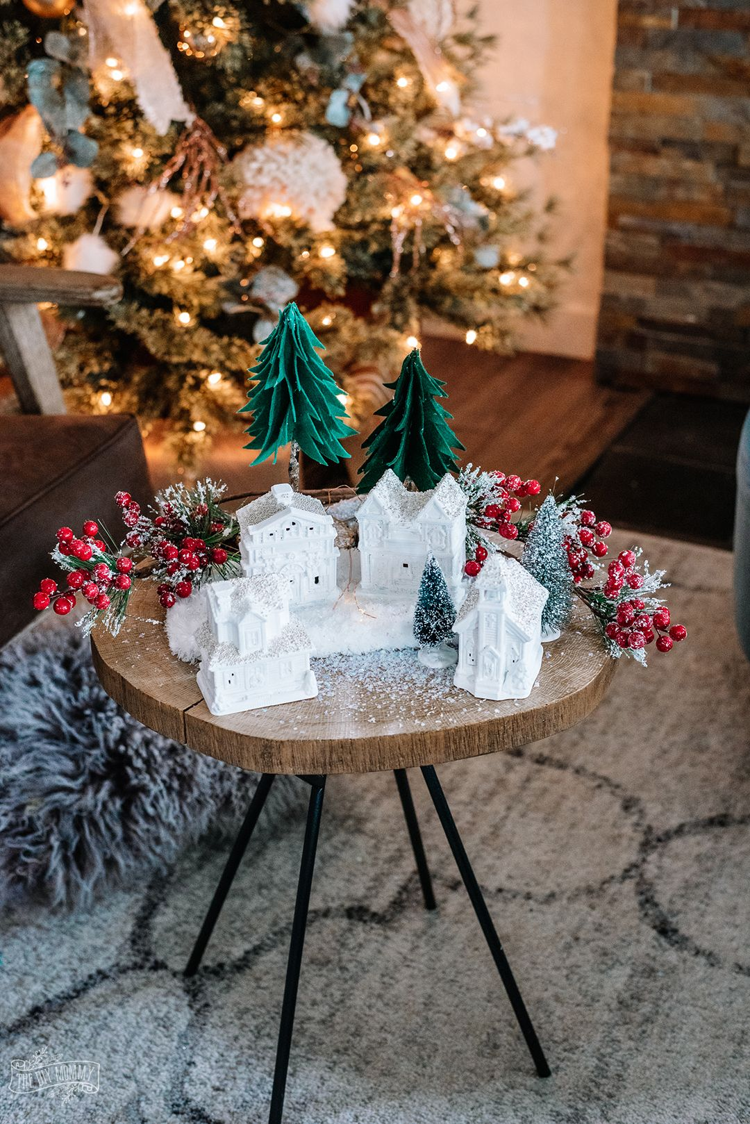 Elegant DIY Dollar Tree Christmas Village Dollar tree