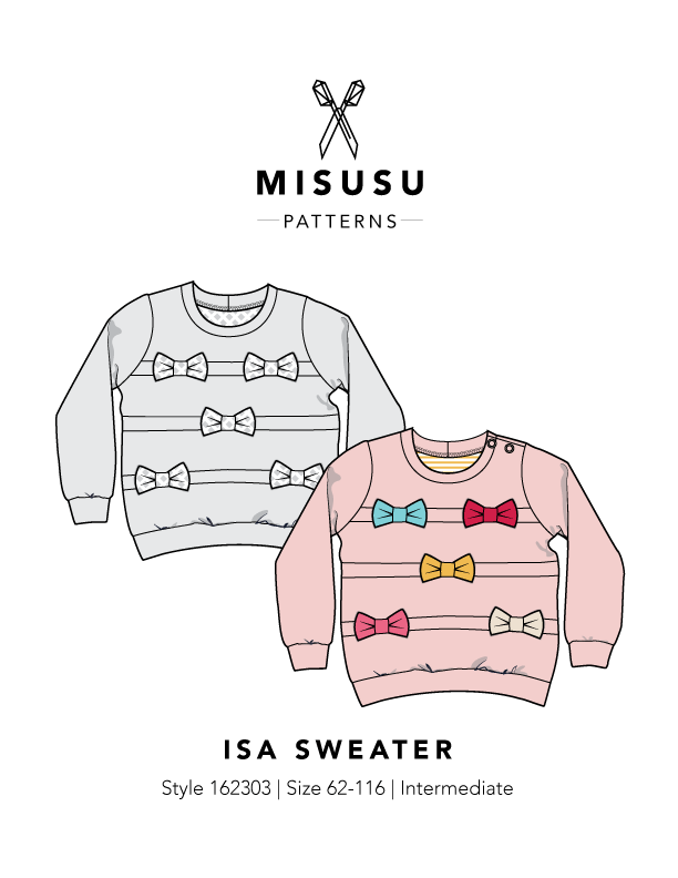 Isa Sweater PDF Sewing Pattern | Pinterest