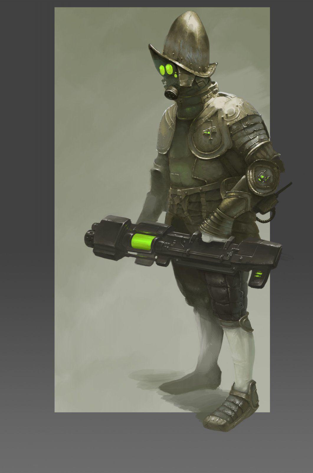 Conquerors Rifleman 2d Sci-fi Fantasy