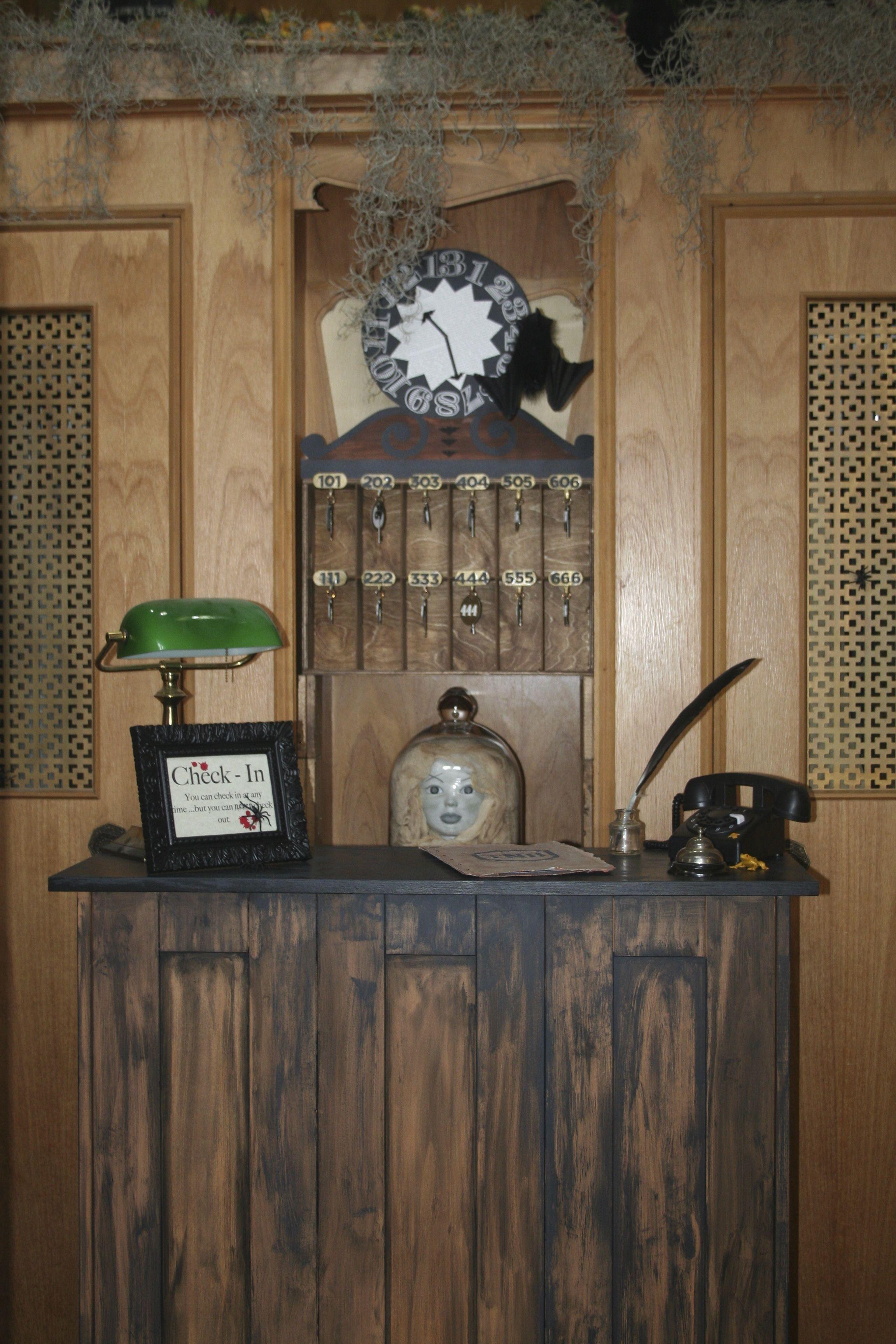 hotel lobby and reception desk