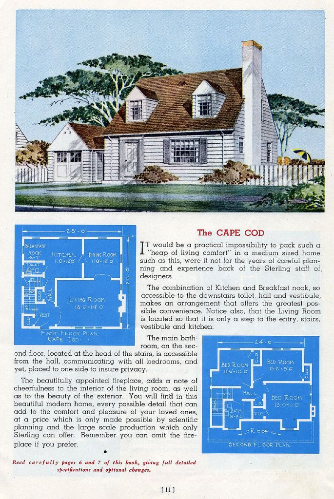Sterling Homes 1945 Colonial House Plans House Plans Vintage House Plans