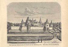 Krefeld - Schloss Krakau - Holzstich bei Spamer 1882