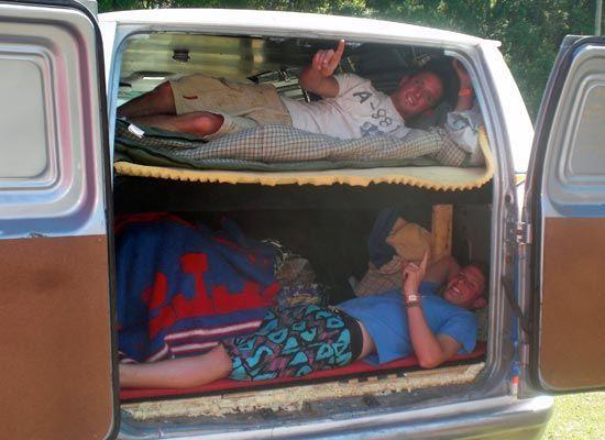 Bunk Beds In Full Size Van Minivan Camper Conversion