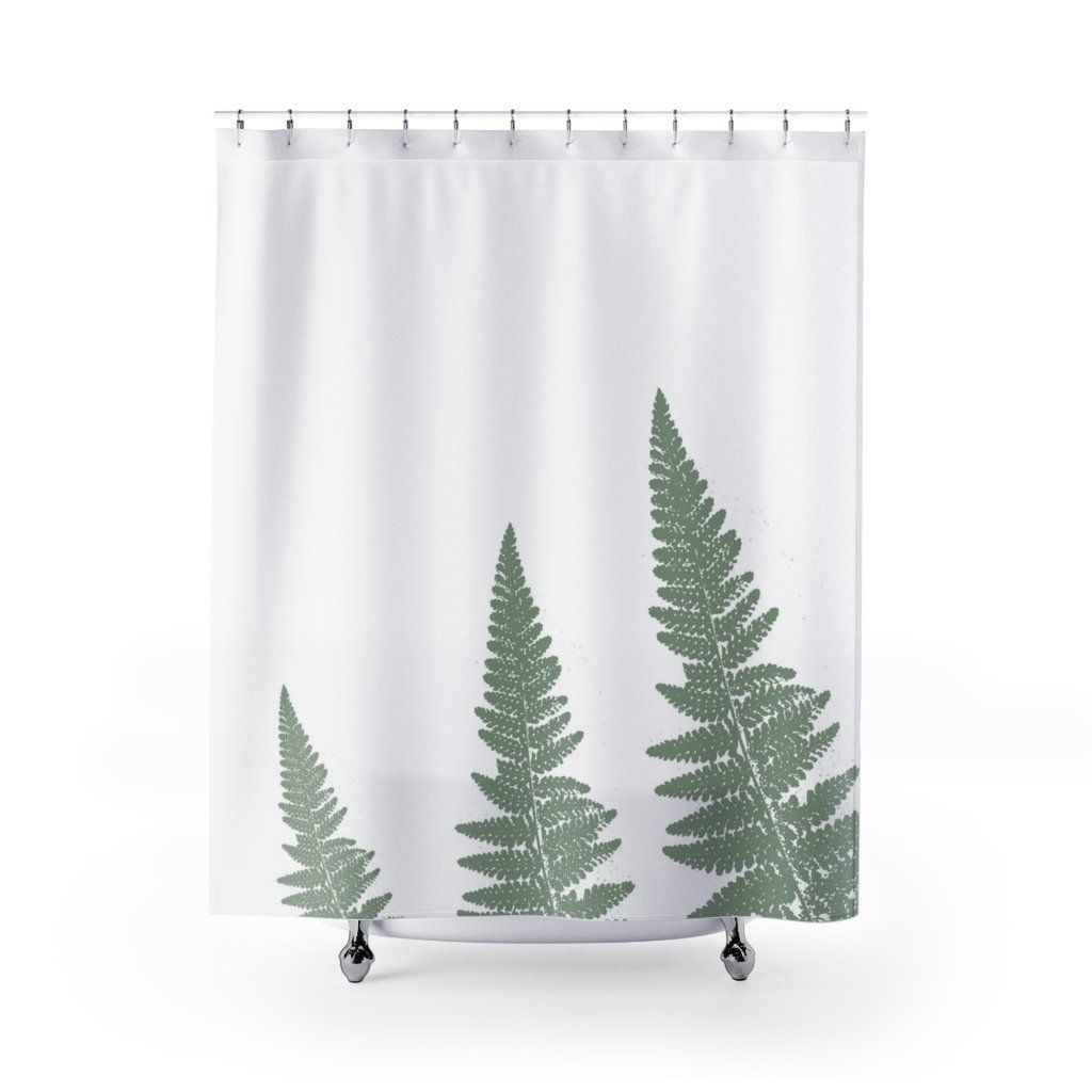 Green Woodland Ferns Spa Shower Curtain Spa Shower Curtain