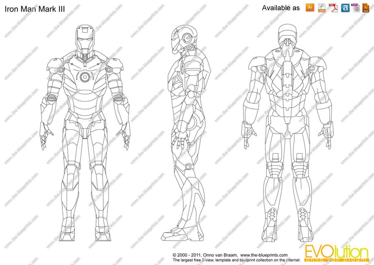Iron Man Mark Iii Blueprint