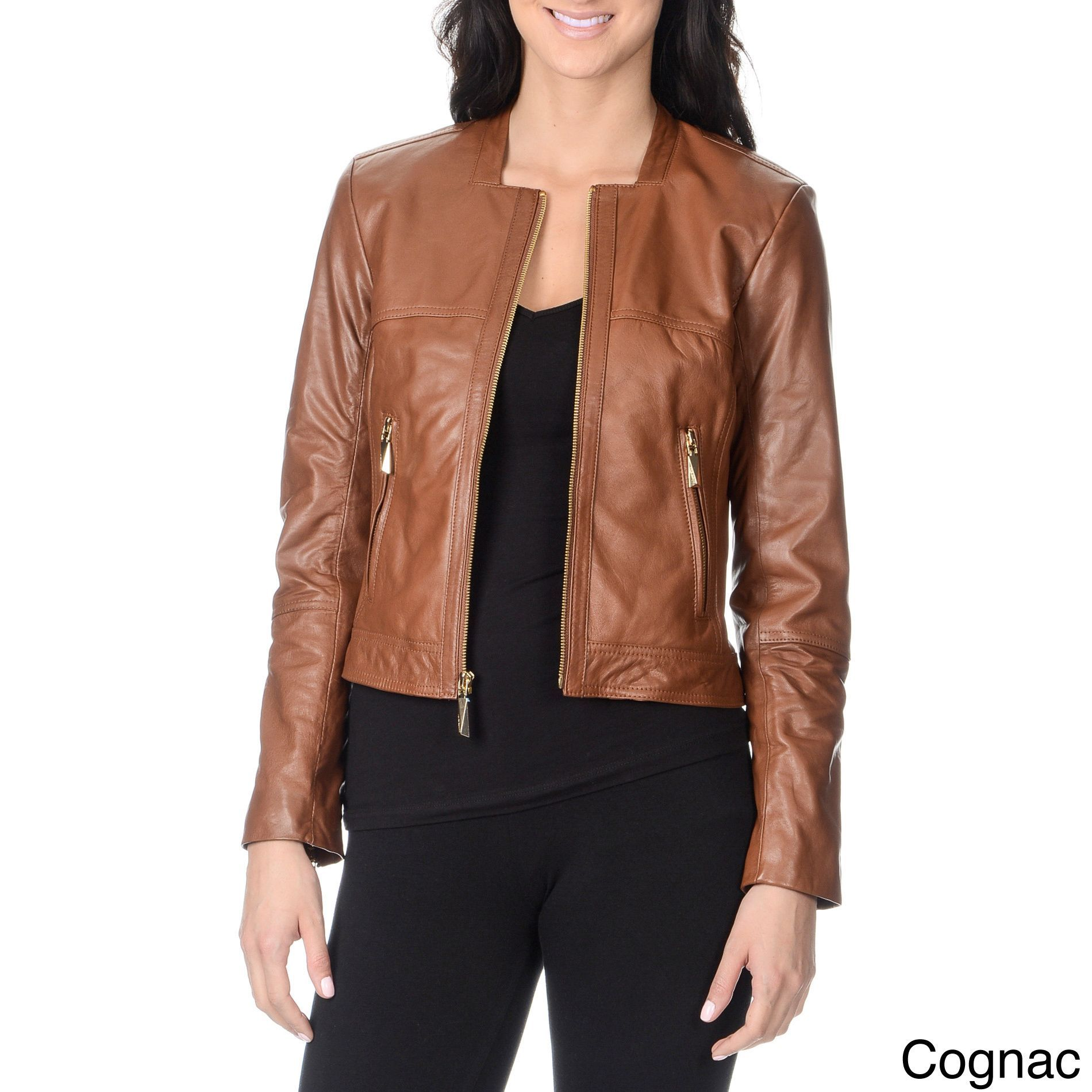 Jackets Leather Jacket Women Brown Leather Moto Jacket Womens Leather Jackets Women [ 1900 x 1900 Pixel ]