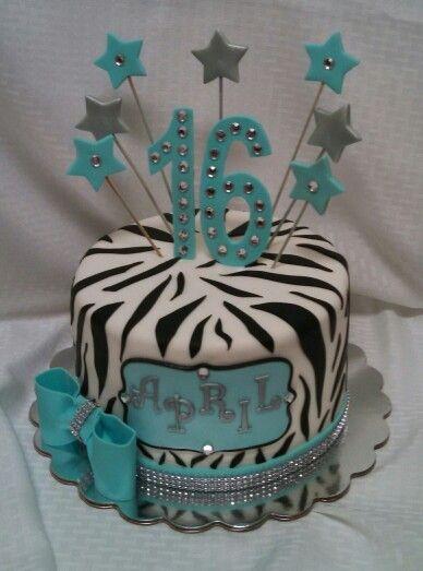 Zebra Sweet 16 cake