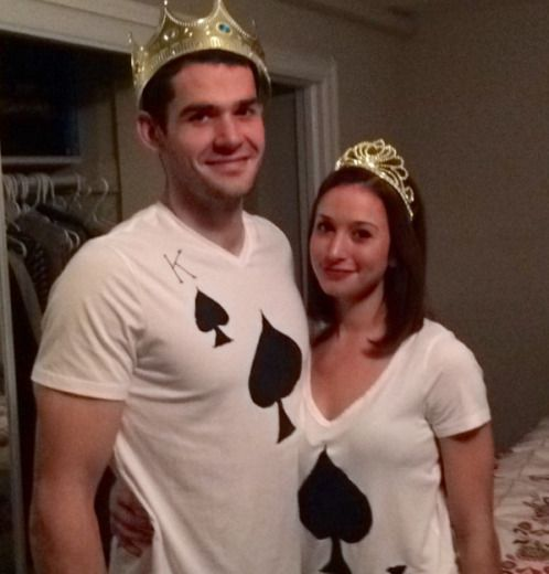 Halloween Easy Couple Costume - King and Queen of Spades  sc 1 st  Pinterest & Halloween Easy Couple Costume - King and Queen of Spades | Halloween ...
