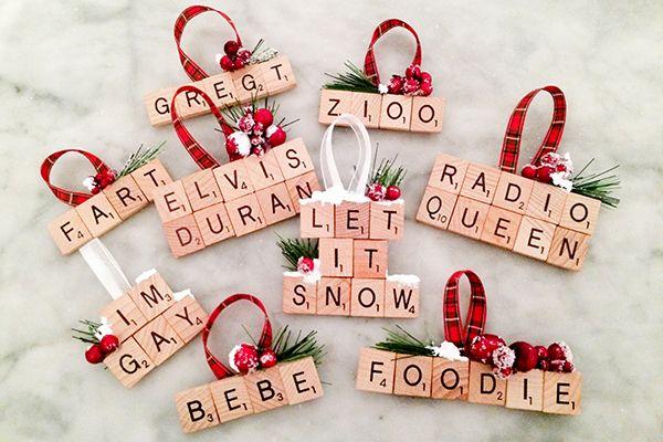 Diy Scrabble Ornament Scrabble Fun Scrabble Crafts