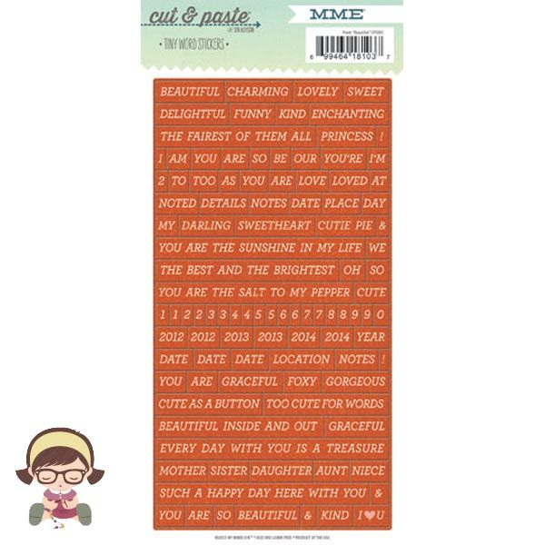 Stickers Pequeñas Palabras Cut & Paste - Beautiful, Mummy Crafts, tienda online de Scrapbooking