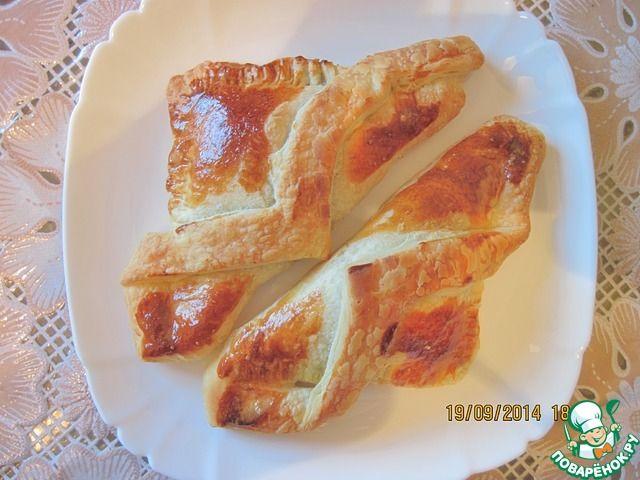 Слойки с куриной печенью - кулинарный рецепт